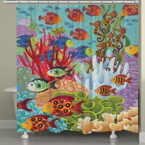 Studdard Fish in the Hood Shower Curtain by Bay Isle Home