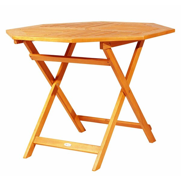 Sanner Folding Wooden Bistro Table by Millwood Pines