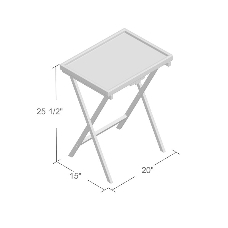 Solomon Bamboo Snack Tv Tray Table