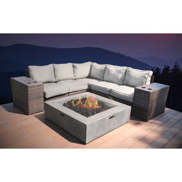 Crofoot 8 Piece Rattan Sectional Seating Group with Cushions by Orren Ellis