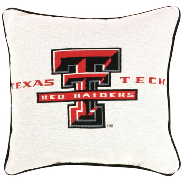 Texas Tech Throw Pillow by Manual Woodworkers & Weavers