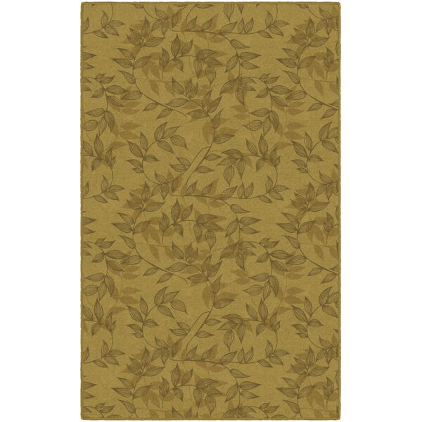Roxana Floral Yellow Area Rug by Winston Porter