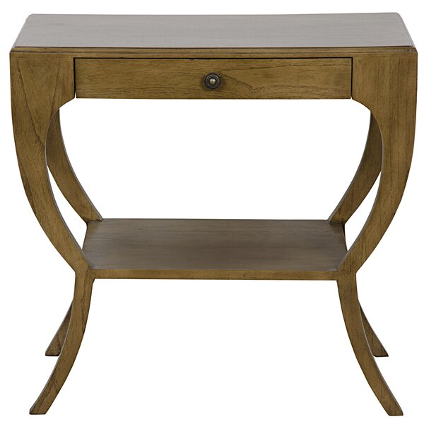 Maude End Table with Storage by Noir