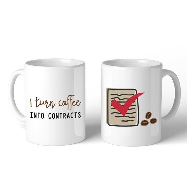 Adalwine I Turn Coffeee Into Contracts 2 Piece Coffee Mug Set by Ebern Designs