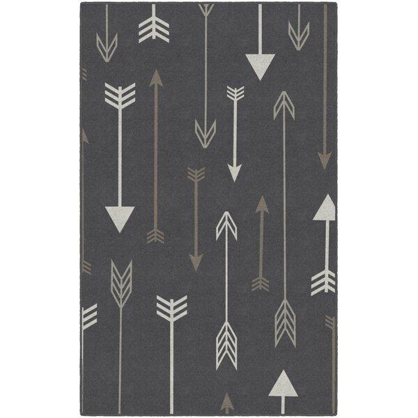 Kenzo Arrows Gray Area Rug by Wrought Studio