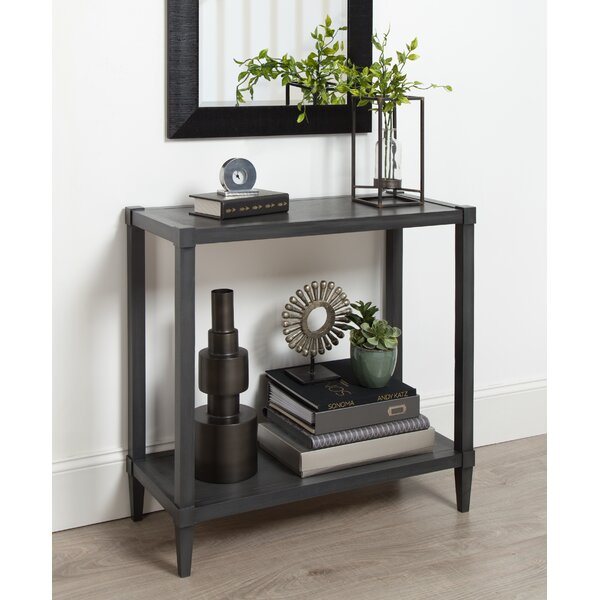 Gretchen Wood Console Table by Breakwater Bay
