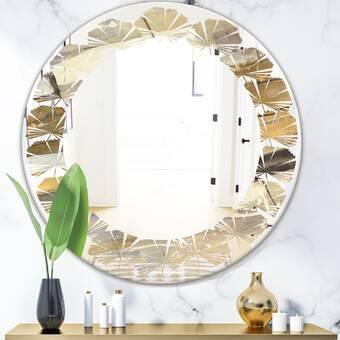 East Urban Home Abstract Iv Quatrefoil Modern Frameless Wall Mirror Wayfair