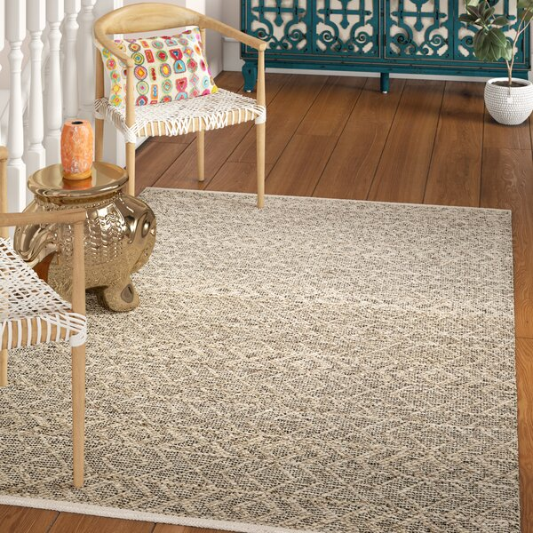 Between Hand-Woven Gray Area Rug by Bungalow Rose