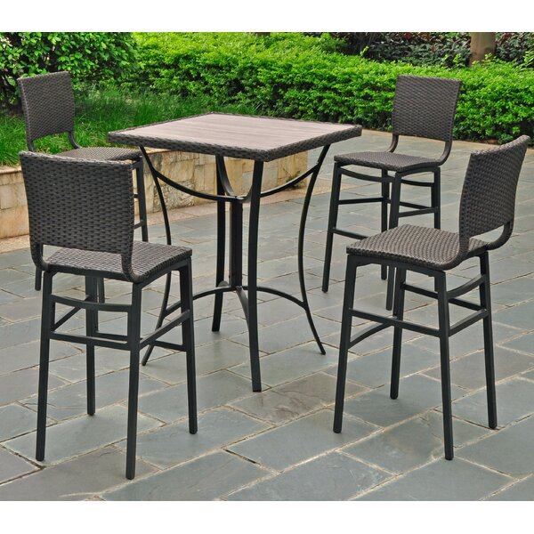 Katzer 5 Piece Bar Height Dining Set by Brayden St