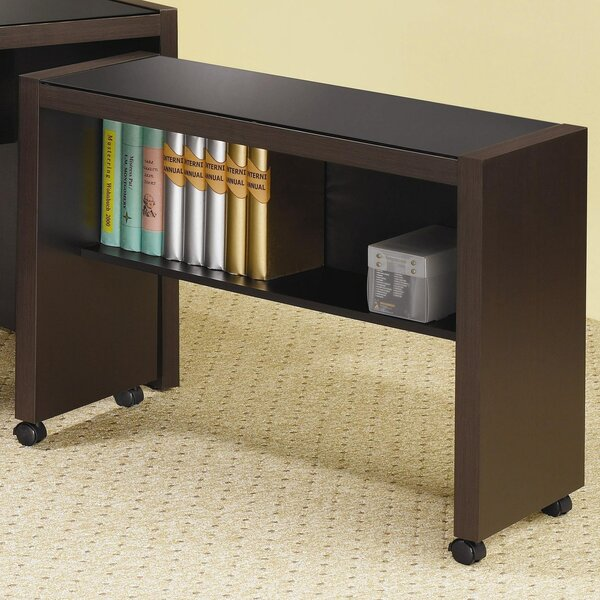 Keim Wood Desk with Glass Top by Winston Porter