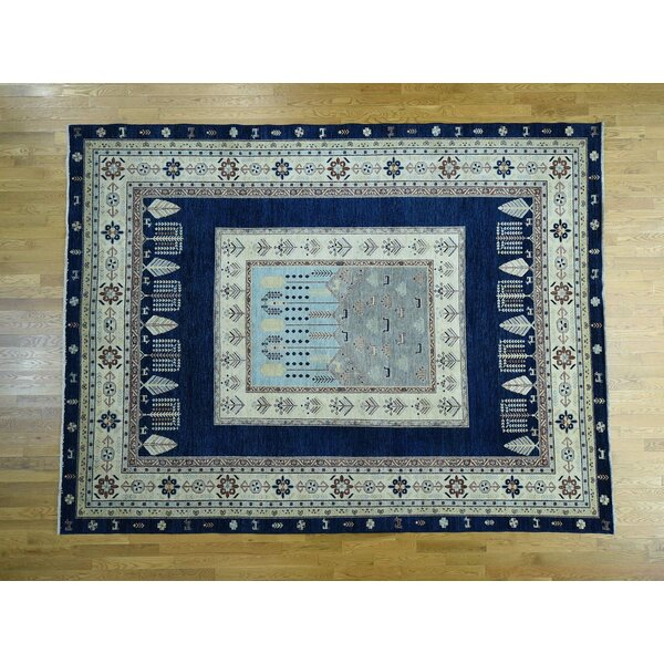 One-of-a-Kind Beaumont Scenery Design Handwoven Wool Area Rug by Isabelline
