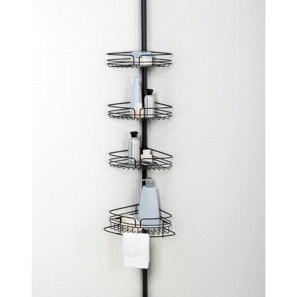 Tub and Shower Tension Pole Corner Shower Caddy by Versalot