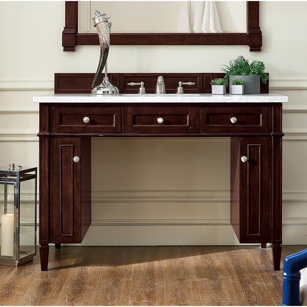 Dussault 48 Single Burnished Mahogany Bathroom Vanity Set by Darby Home Co