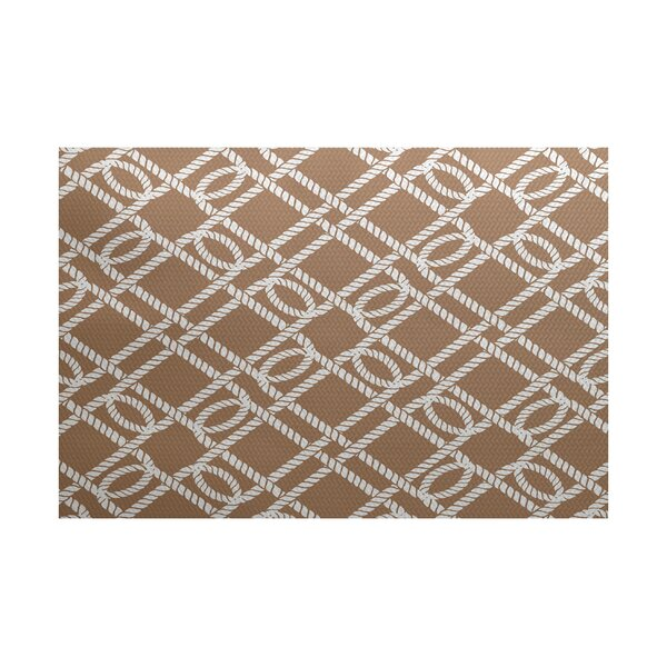 Bridgeport Taupe Indoor/Outdoor Area Rug by Beachcrest Home
