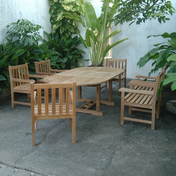 Kramer Extension 7 Piece Teak Dining Set by Bayou Breeze
