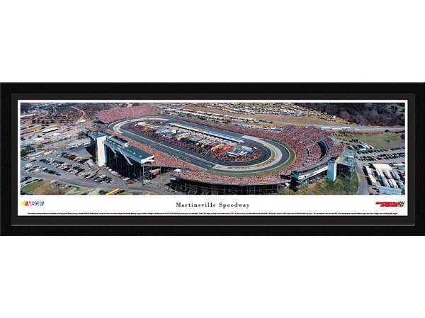 NASCAR Martinsville Speedway by James Blakeway Framed Photographic Print by Blakeway Worldwide Panoramas, Inc