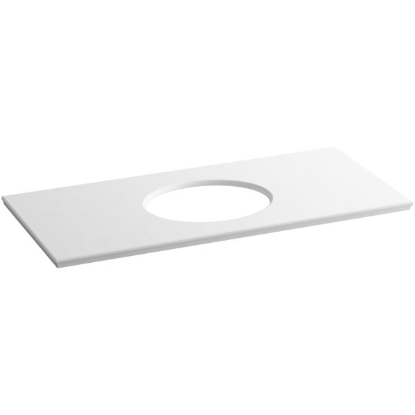 Solid/Expressions Verticyl Oval Cutout 50 Single Bathroom Vanity Top by Kohler