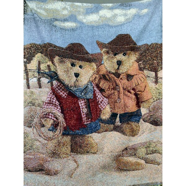 Velazco Cowboy Teddys Throw by Millwood Pines