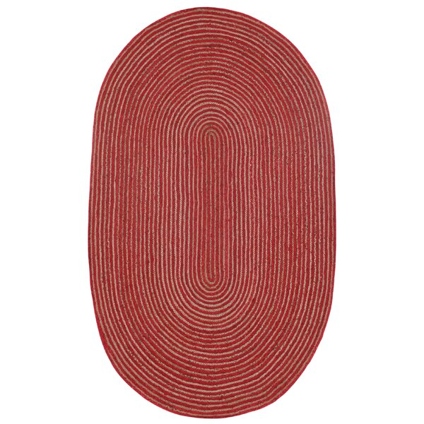 Latour Hand-Loomed Red Area Rug by August Grove