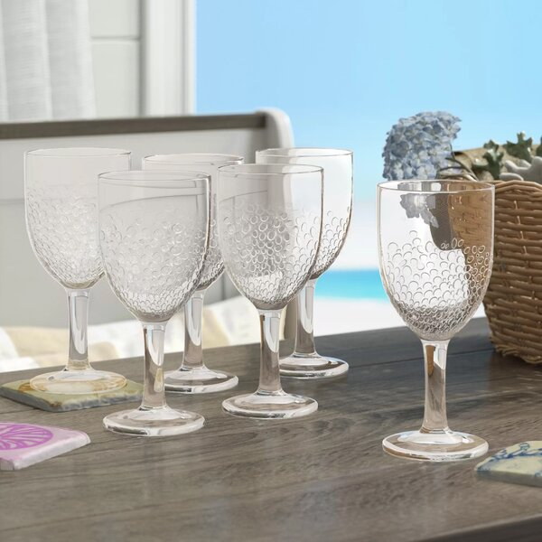 Livermore 15 oz. Plastic Goblet (Set of 6) by Beachcrest Home