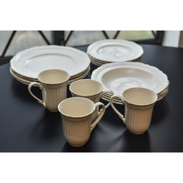 Tuscan Villa 16 Piece Dinnerware Set, Service for 4 by Red Vanilla