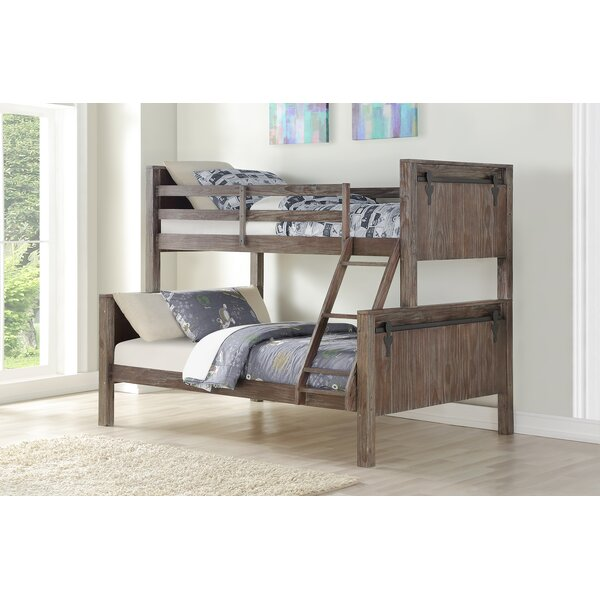 Colfax Barn Door Twin Over Full Bunk Bed by Harriet Bee
