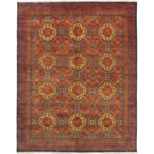 One-of-a-Kind Donoho Hand-Knotted Wool Red Area Rug by Isabelline
