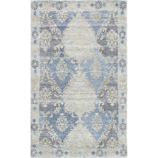 Cayla Hand-Knotted Blue/Beige/Gray Area Rug by One Allium Way