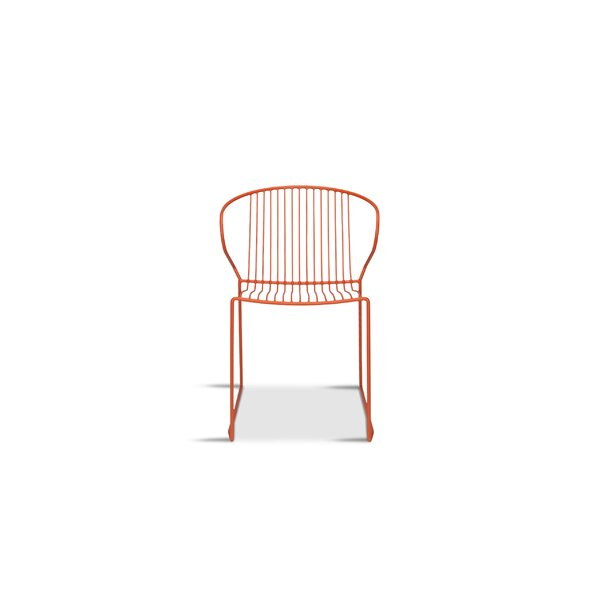 Tiffany Stacking Patio Dining Chair by Wrought Studio