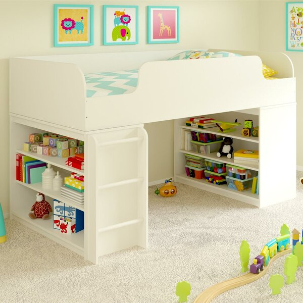 Twin Low Loft Bed with Shelves by Mack & Milo Mack & Milo