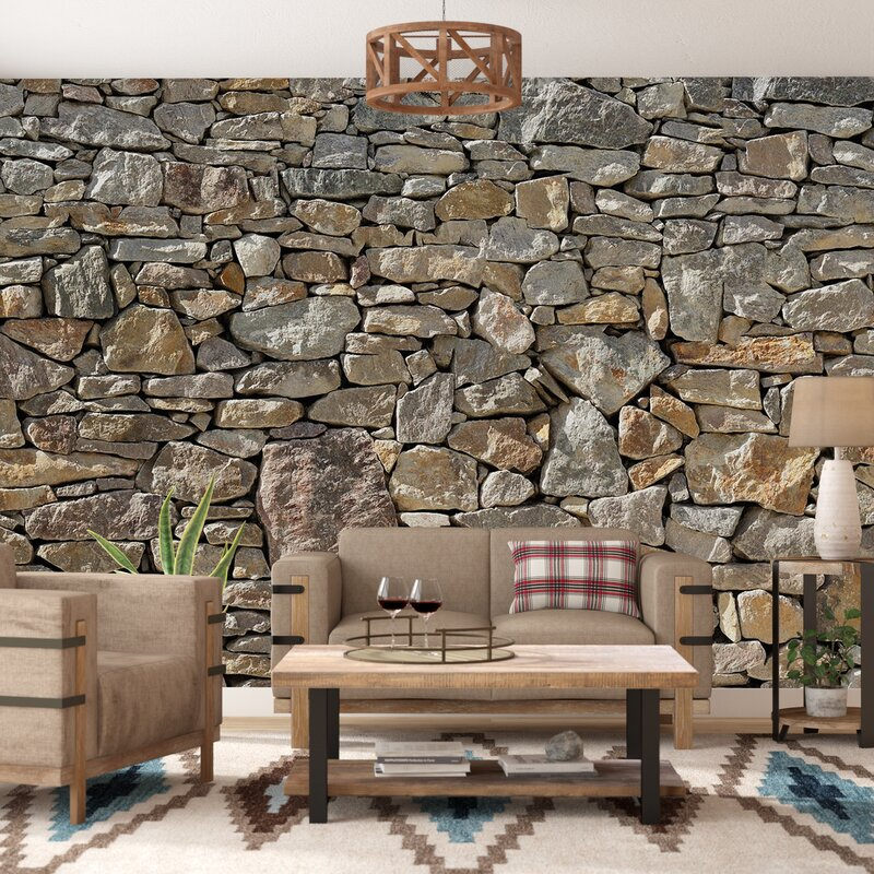 Architect 3d Garden And Exterior 20: Loon Peak Chicopee 8 Piece Stone Wall Mural & Reviews