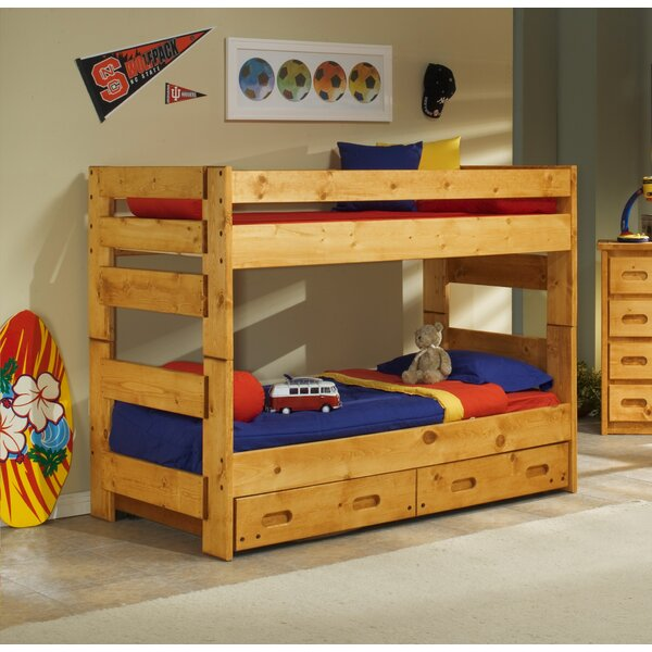 Alerburry Twin Over Twin Bunk Bed with Trundle by Harriet Bee