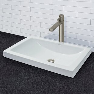 Compare & Buy Breanna Classically Redefined Ceramic Rectangular Vessel Bathroom Sink with Overflow ByDECOLAV