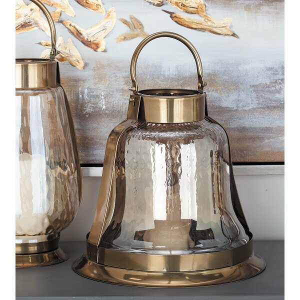 Stainless Steel Glass Lantern by Cole & Grey