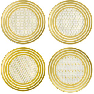 Comparison Denzil Persian Carpet Dinner Plate (Set of 4) By Everly Quinn