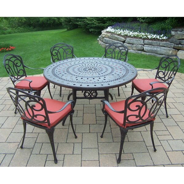 Berkley 7 Piece Dining Set with Cushions by Oakland Living
