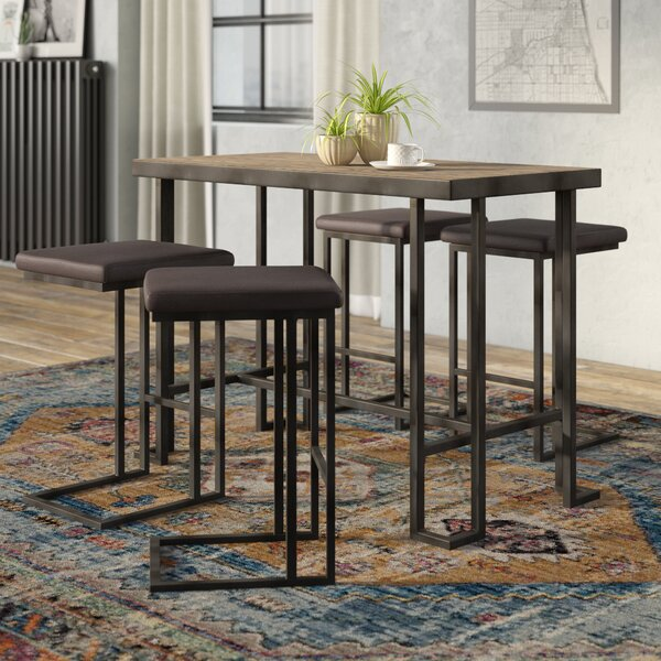 Calistoga 5 Piece Counter Height Pub Table Set by Union Rustic Union Rustic
