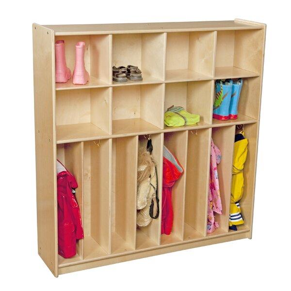 Contender 3 Tier 4 Wide Coat Locker by Wood Designs