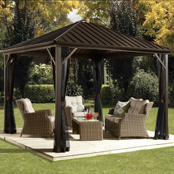 Dakota 10 Ft. W x 10 Ft. D Aluminum Patio Gazebo by Sojag