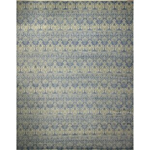One-of-a-Kind Lona Hand-Knotted Wool Blue Area Rug by Isabelline