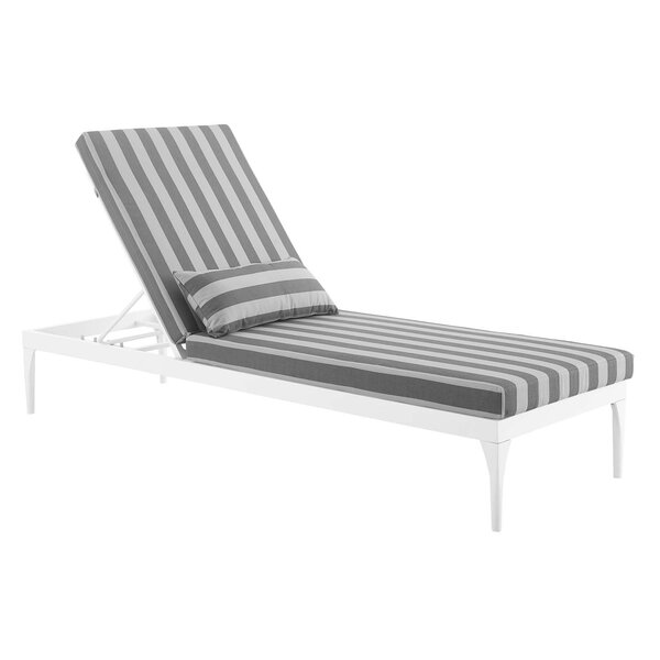 Wilma Outdoor Reclining Chaise Lounge with Cushion by Ivy Bronx Ivy Bronx