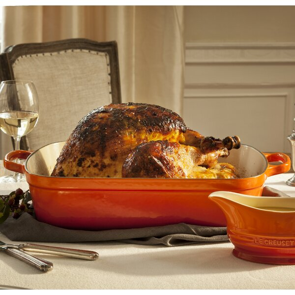 Enameled Cast Iron Rectangular Signature Roaster by Le Creuset