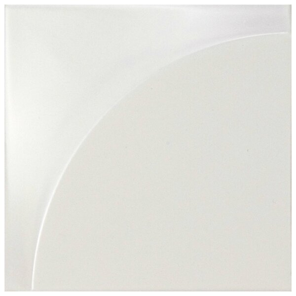 Magie 3D Curve 5.88 x 5.88 Ceramic Field Tile in White by EliteTile