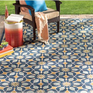 Lewis Navy Indoor/Outdoor Area Rug