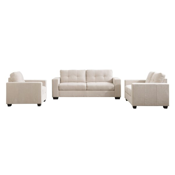 Kaye 3 Piece Living Room Set by Latitude Run