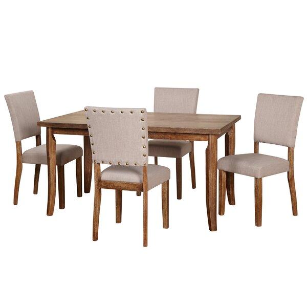 Lassiter 5 Piece Solid Wood Dining Set by Gracie Oaks Gracie Oaks