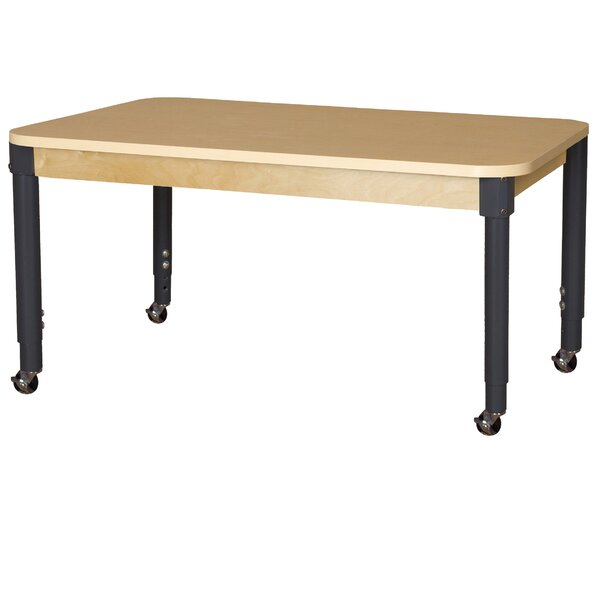 Mobile High Pressure Laminate 60 x 36 Rectangular Activity Table by Wood Designs