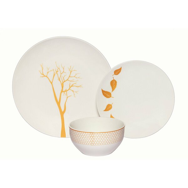 Mattingly Porcelain Coupe 18 Piece Dinnerware Set, Service for 6 by Bloomsbury Market