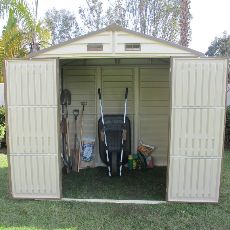 D Plastic Storage Shed