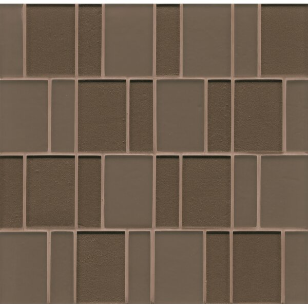 Remy Glass Mosaic Brick Tile in Brown by Grayson Martin